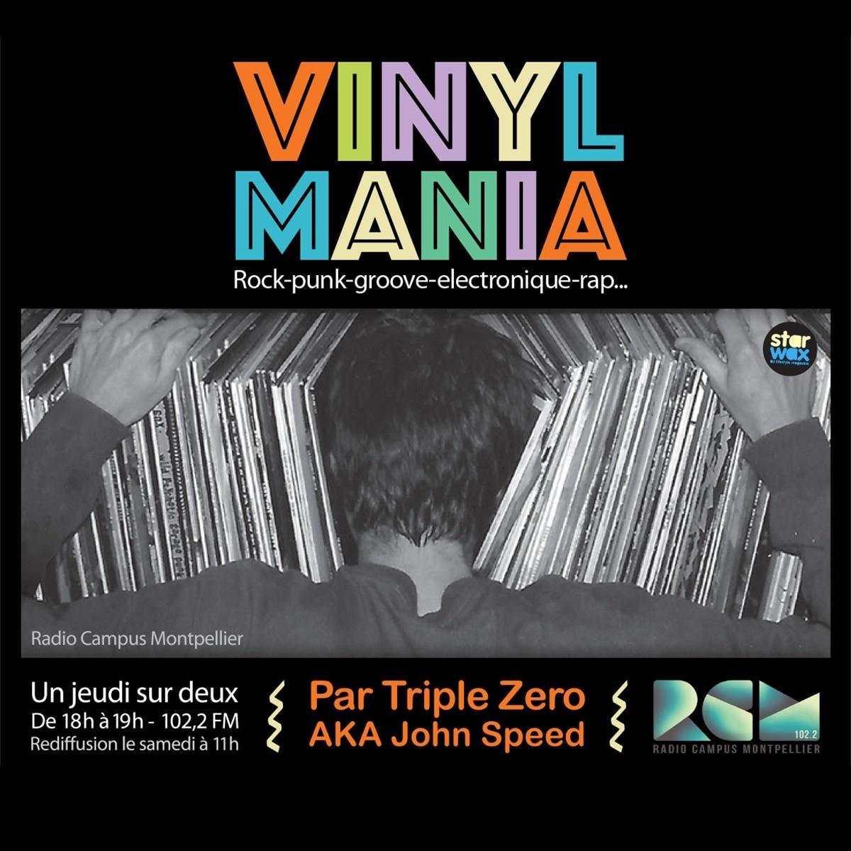 Logo de Vinyl Mania, une émission Radio Campus Montpellier