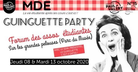 Guinguette party Radio campus Montpellier
