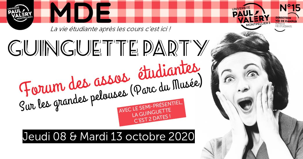 Guinguette party Radio campus Montpellier