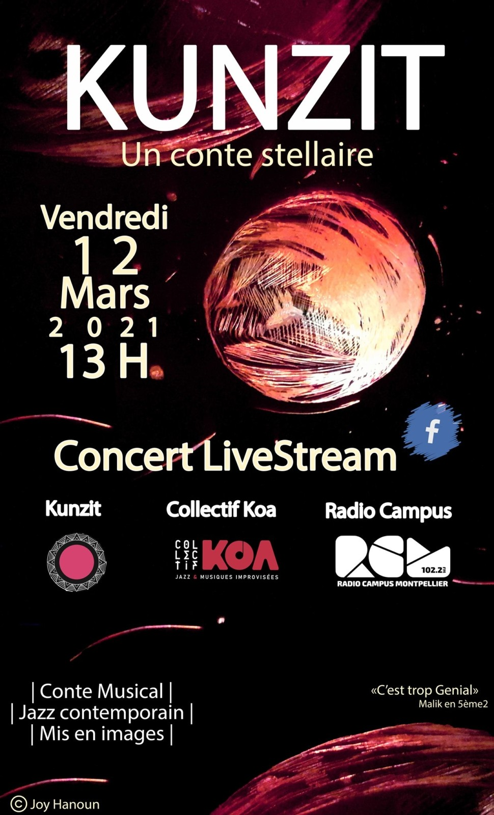 Kunzit un conte stellaire Collectif Koa Radio Campus Montpellier